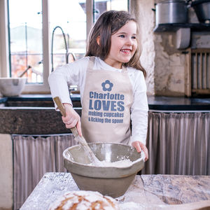 Personalised We Love Baking Childrens Apron