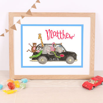 Children's London Taxi Personalised Print