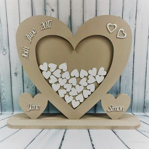 Heart Wedding Guest Box Guest Book