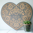Large Engraved Folk Art Style Wall Plaque