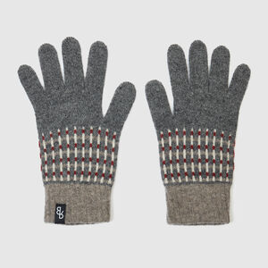 Men's Knitted Lambswool Gloves | Grey Or Navy