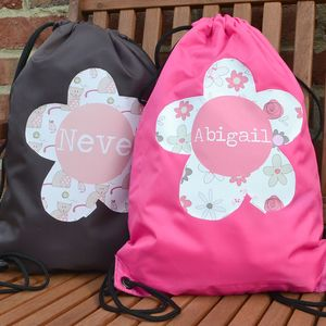 Personalised Waterproof Swimming Kit Bag Girl's Designs - more
