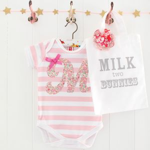 Betsy Personalised Baby Girl Bodysuit And Gift Bag