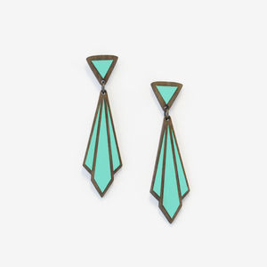 Echarpe, Art Deco Earrings - earrings