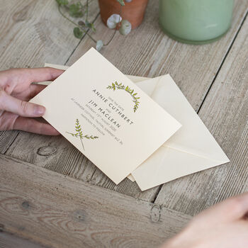 Botanical Wedding Save The Date Card