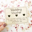 Wooden Wedding Voucher