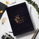 Luxury Velvet Personalised Name Wedding Guest Book