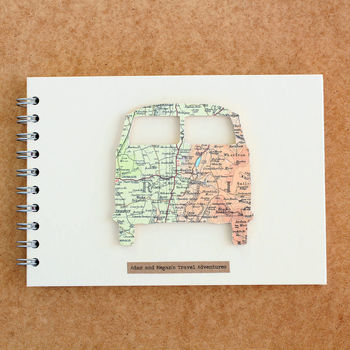 Personalised Vintage Map Camper Van Album