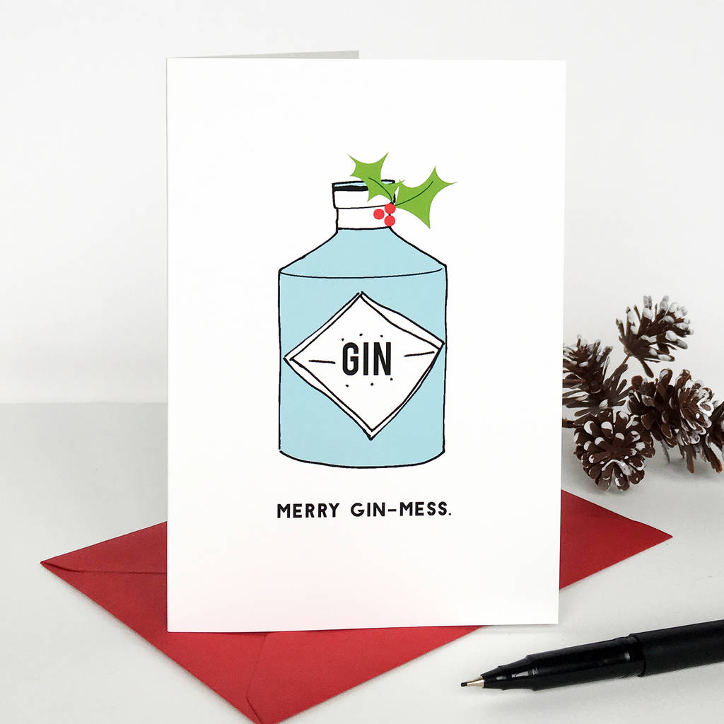 Merry Gin Mess Christmas Card