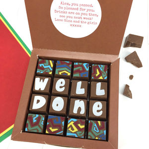 Personalised Well Done Message Chocolates - exam congratulations gifts