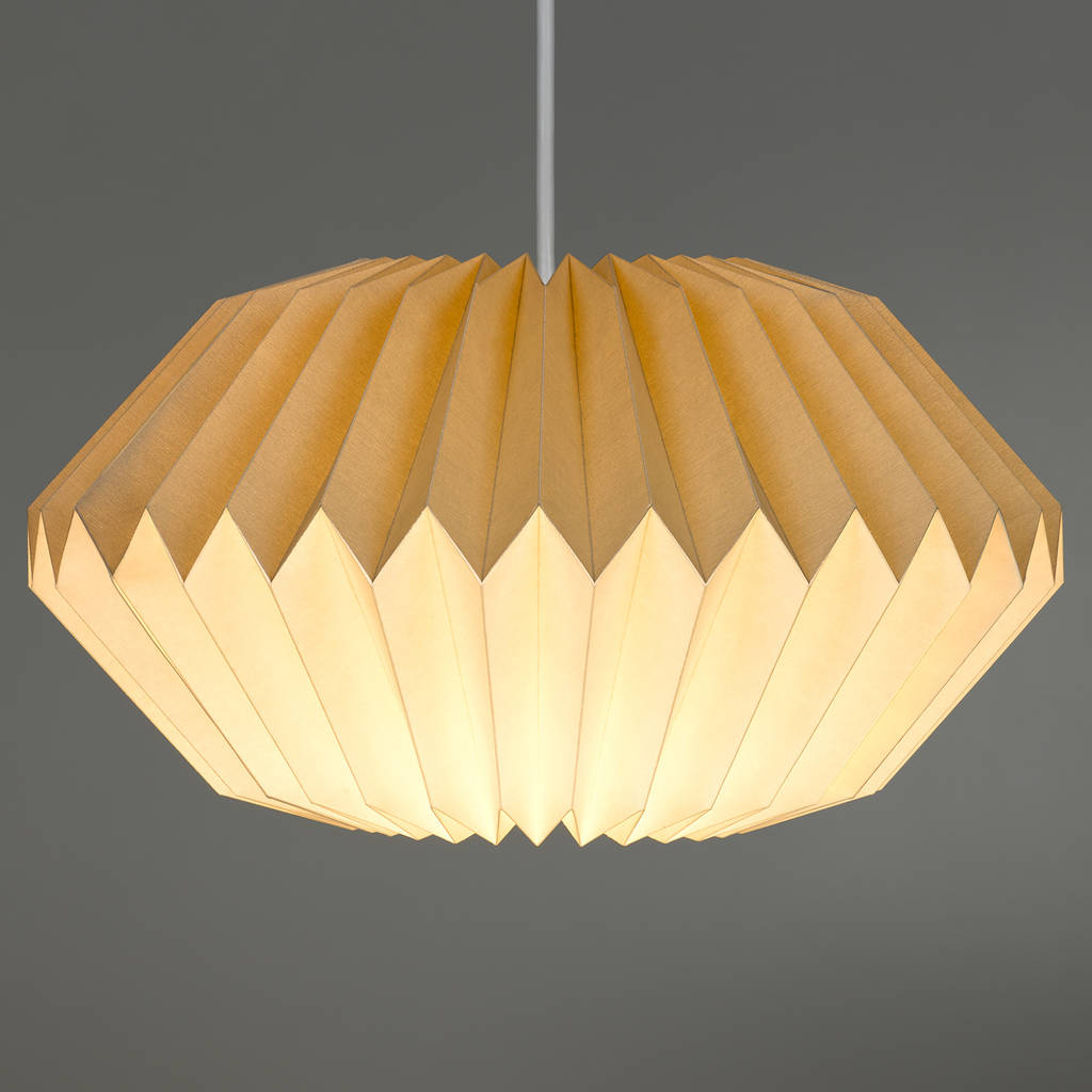 Beautiful Paper Origami Lamp Shade In Dove Grey