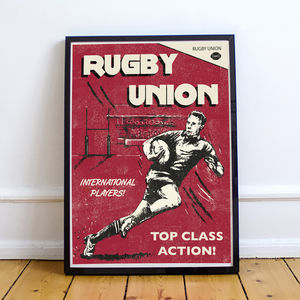 A3 Rugby Print - activities & sports