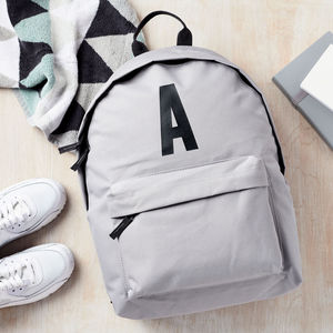 Personalised Alphabet Backpack