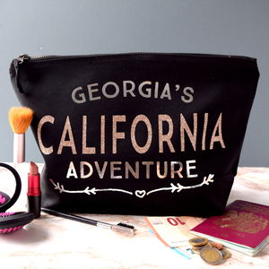 Personalised Rose Gold Adventure Toiletry Bag - wash & toiletry bags