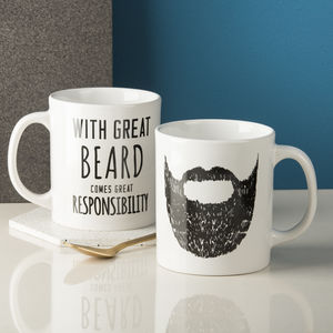 'Great Beard' Man Mug - dining room
