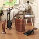 Brompton Black And Copper Fireside Tools