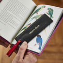 Personalised Leather Book Mark