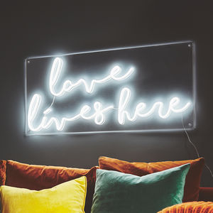 Love Lives Here LED Neon Light - gifts with meaning