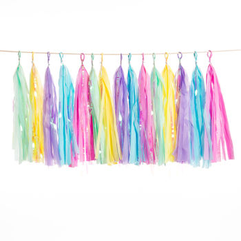 Unicorn Handcut Tassel Garland