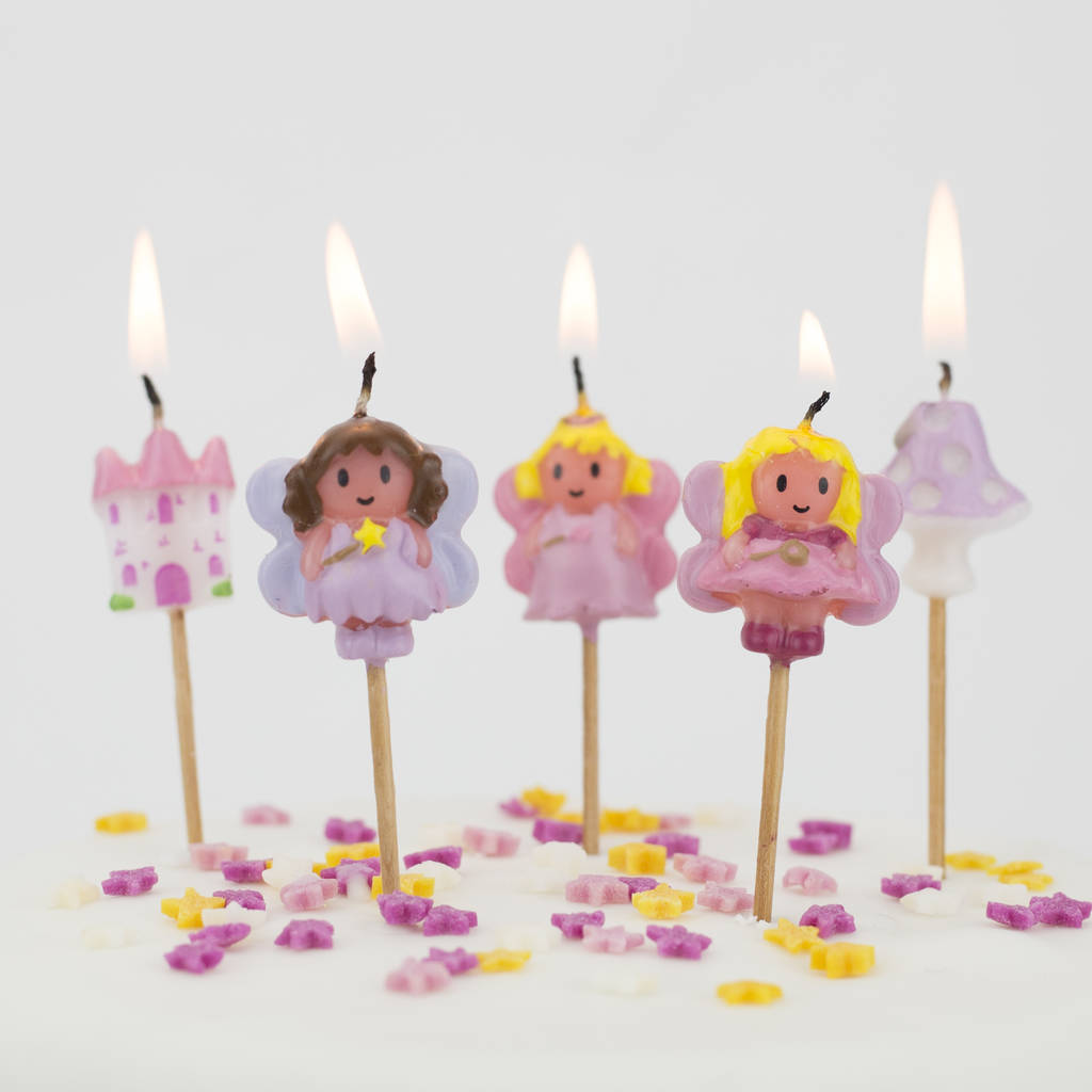 Fairy Birthday Cake Candles
