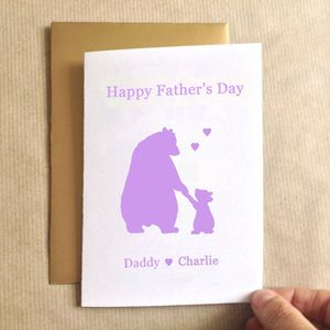 Father's Day Bears Father's Day Card