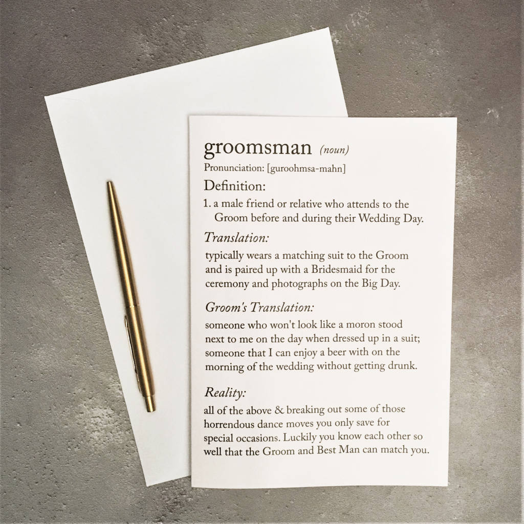 Bridesmaid Definition Funny | Wedding Tips and Inspiration