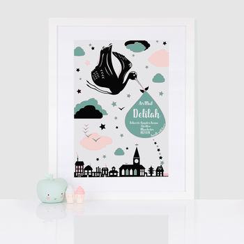 Personalised Special Delivery Nursery Print