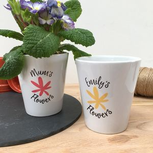 Personalised Flower Pot - pots & planters