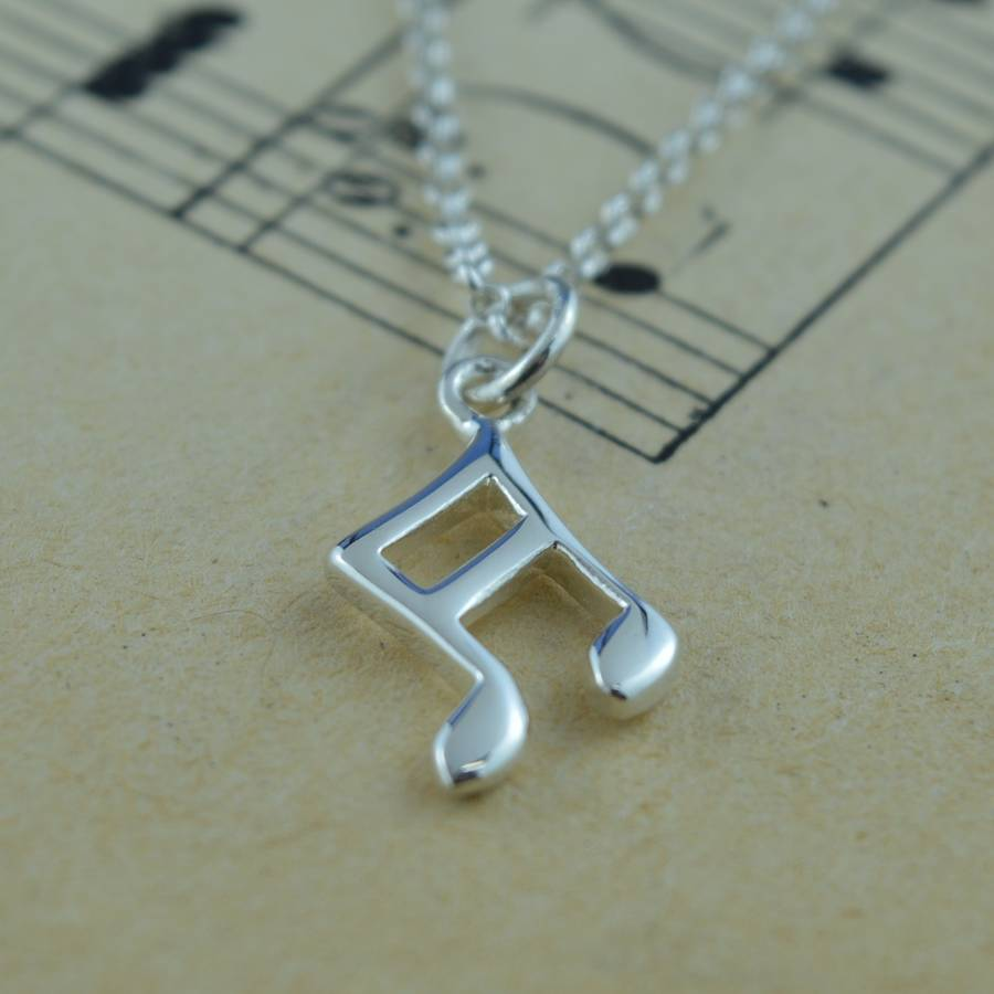 Lily Charmed Silver Music Note Necklace
