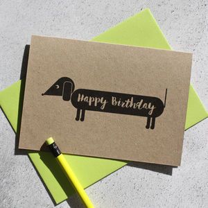 Dog Themed Happy Birthday Card - black friday sale