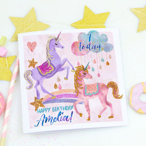 Personalised Children's Birthday Card 'Unicorn Magic' - summer sale
