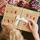 Personalised Mens 12 Days Sock Advent Calendar