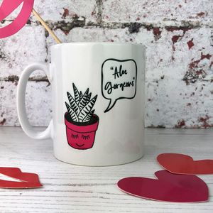 'Aloe Gorgeous' China Mug - tableware