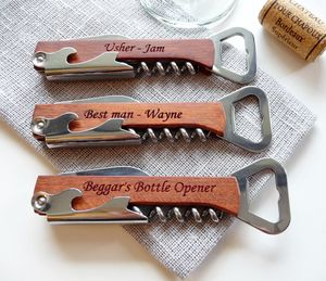 Personalised Wine Bottle Opener, Corkscrew - utensils