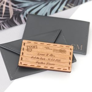 Personalised Leather Envelope Cardholder - passport & travel card holders