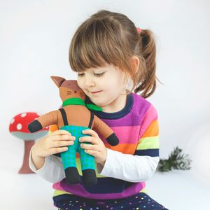 Fair Trade Cedar The Fox - soft toys & dolls