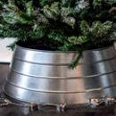 Galvanised Metal Christmas Tree Skirt