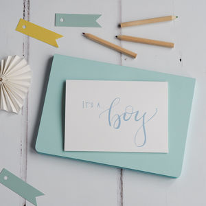 It's A Boy Baby Card