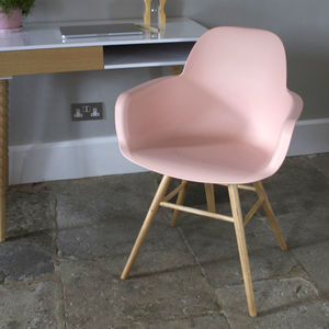 Scandinavian Blush Dining Chair - furniture