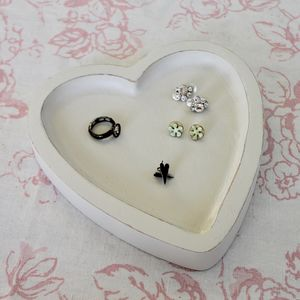 Wooden Heart Jewellery Trinket Dish - bedroom