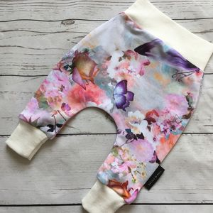 Rose Print Girls Leggings - clothing