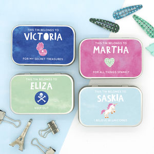 Personalised And Themed Keepsake Tin For The Girls - children's parties