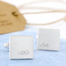 Personalised Infinity Wedding Cufflinks