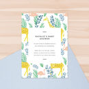 Flamingo Forest Baby Shower Invitations
