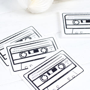 Cassette Song Request Cards - advice cards & table games