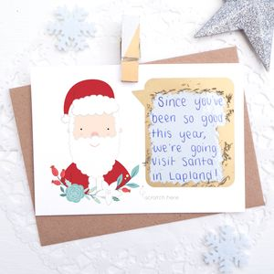 Personalised Santa Scratch Card - cards