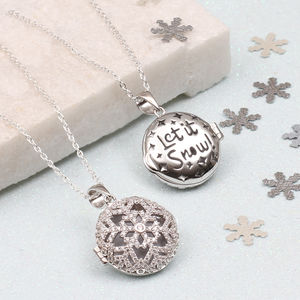 Personalised Sterling Silver Christmas Locket - what's new