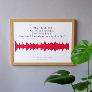 Personalised Lyric Soundwave Print - music