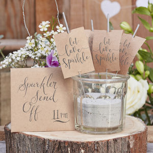 Wedding Kraft Let Love Sparkle Sparklers 10 Pack - table decorations