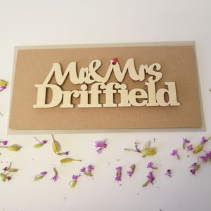 Personalised Mr And Mrs Wedding Card - wedding cards